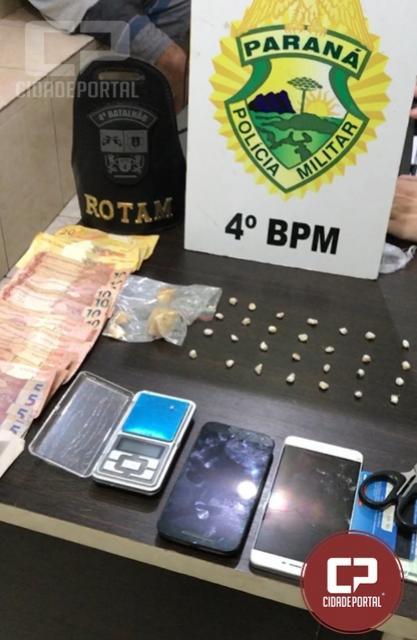 Polícia Militar prende homem por tráfico de drogas em Maringá