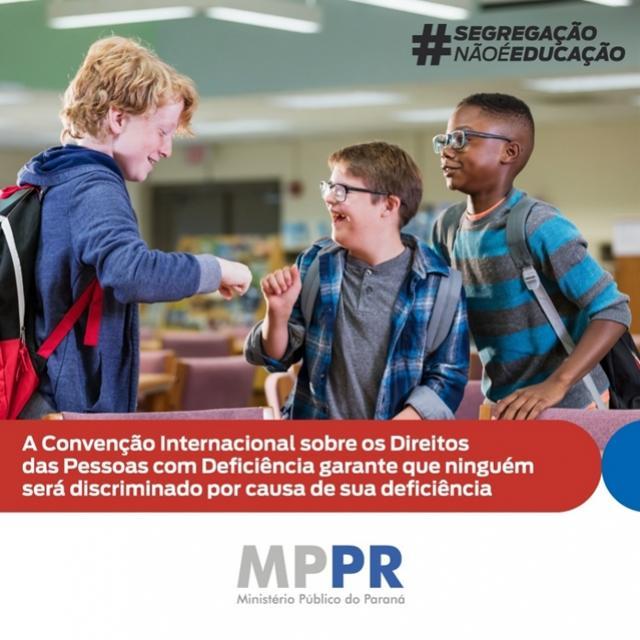 MP manifesta posição contrária à nova política de educação inclusiva sancionada recentemente pelo Governo Federal