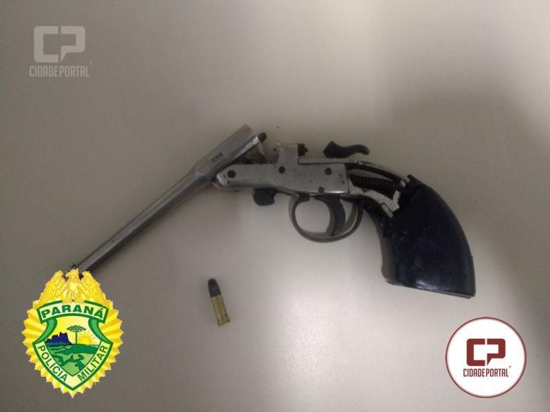 Polícia Militar apreende um adolescente de 16 anos em posse de arma de fogo em Goioerê