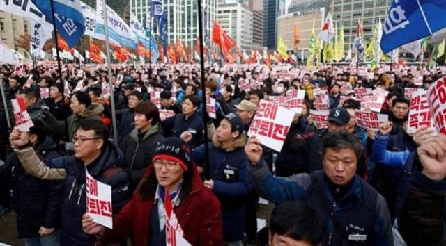 Duas pessoas morrem em protestos contra impeachment na Coreia do Sul