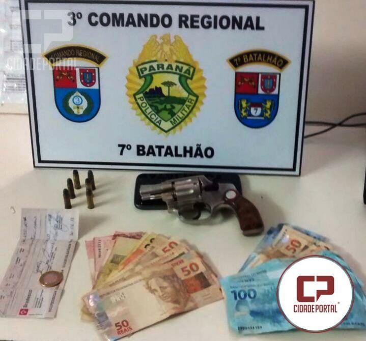 Polícia Militar de Goioerê prende duas pessoas por posse ilegal de arma de fogo