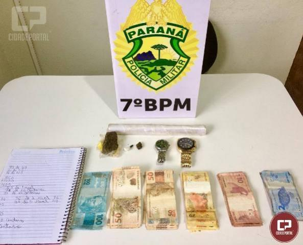 Policiais apreendem drogas e encaminham suspeitos por tráfico, roubo e homicídio em Tapejara