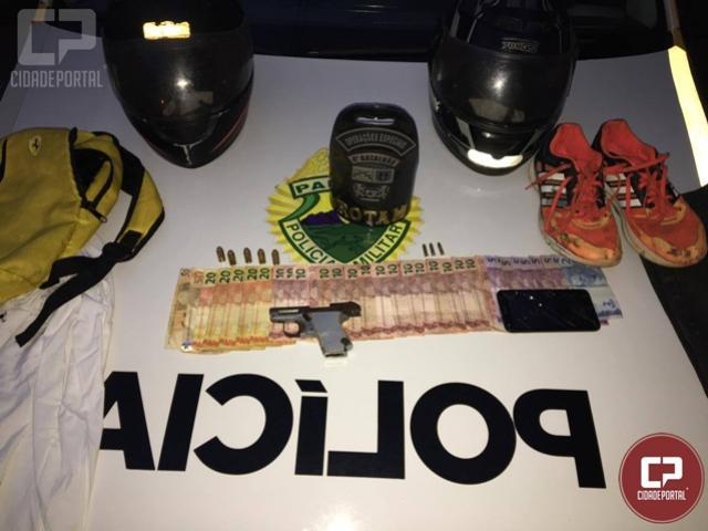 Polícia Militar prende autor de roubo, apreende arma de fogo e recupera dinheiro roubado em Sarandi
