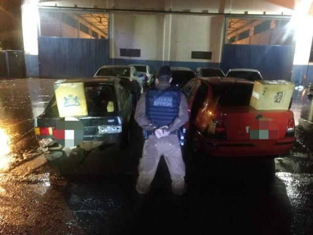Batalhão de Polícia de Fronteira apreende veículos com contrabando em Foz do Iguaçu