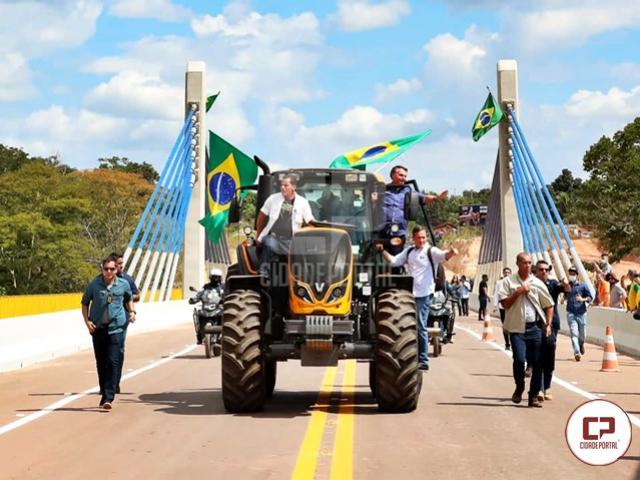 Bolsonaroinaugura ponte do rio Parnaíba, que liga as regiões sul do Maranhão e do Piauí via BR-235