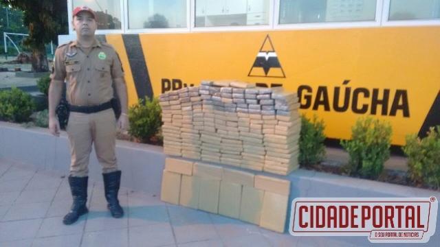 Operação Carnaval - Polícia Rodoviária apreende 204 kg de maconha em Cidade Gaúcha