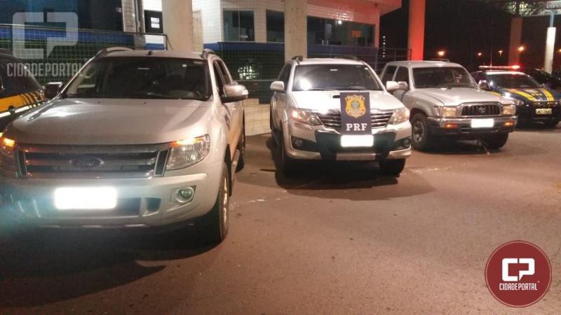 PRF recupera em Guaíra três caminhonetes roubadas em Quarto Centenário