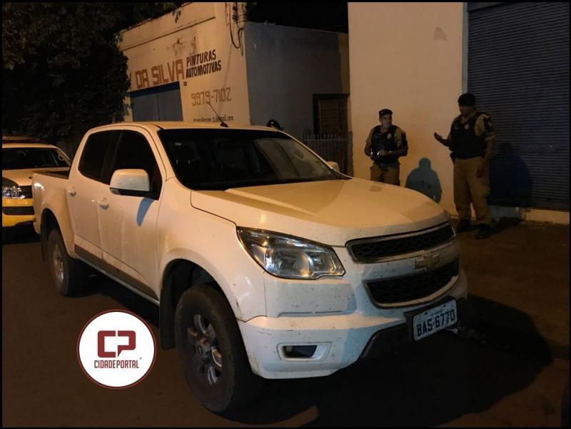 Polícia Militar de Goioerê recupera uma caminhonete roubada em Barbosa Ferraz