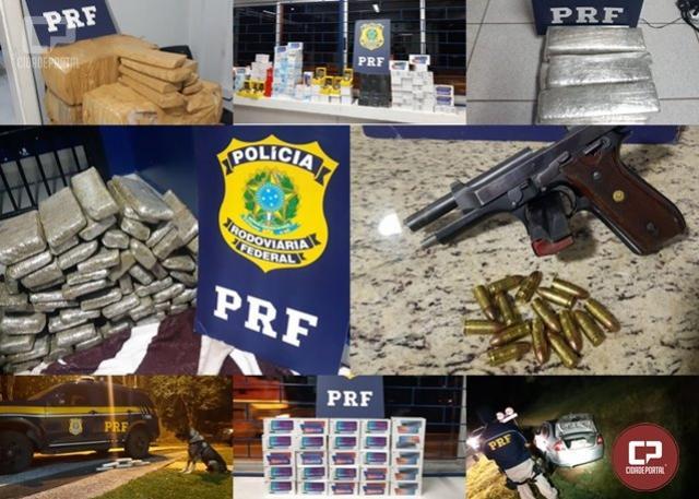 """PRF apreende maconha, pistola, munição, celulares e relógios no Paraná em """"Operação Tamoio"""""""