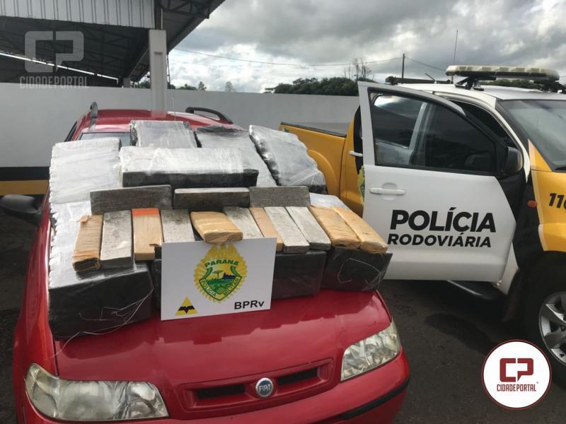 Polícia Rodoviária Estadual de Iporã aprende veículo com 230 kg de entorpecentes