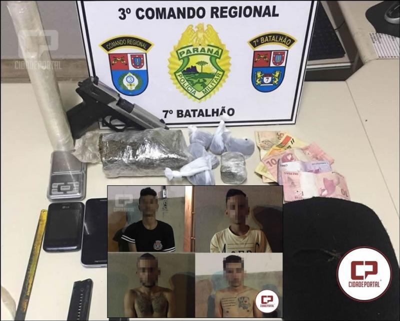 Quatro pessoas foram presas em Moreira Sales por associação criminosa, tráfico e posse irregular de arma de fogo