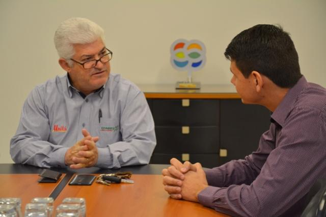 Prefeito Rafael Bolacha visita a Cooperativa Unitá para estreitamento e parcerias