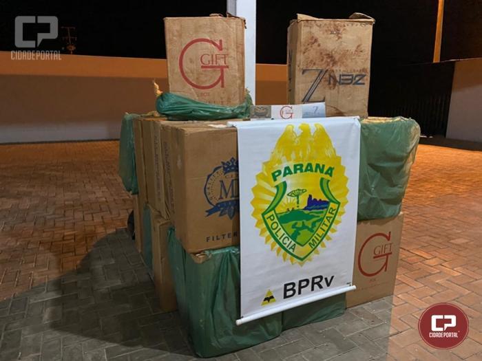 PRE de Iporã apreende cigarros contrabandeados no município de Altônia