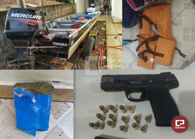 Polícias Civil e Militar apreendem pistola, drogas e produto de roubo em São Jorge do Patrocínio