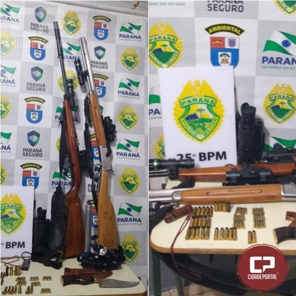 Polícia Ambiental de Umuarama prende cinco pessoas por caça predatória