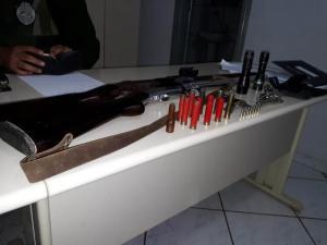 Polícia Ambiental de Umuarama apreende 3 armas de fogo e prende caçadores em Alto Piquiri