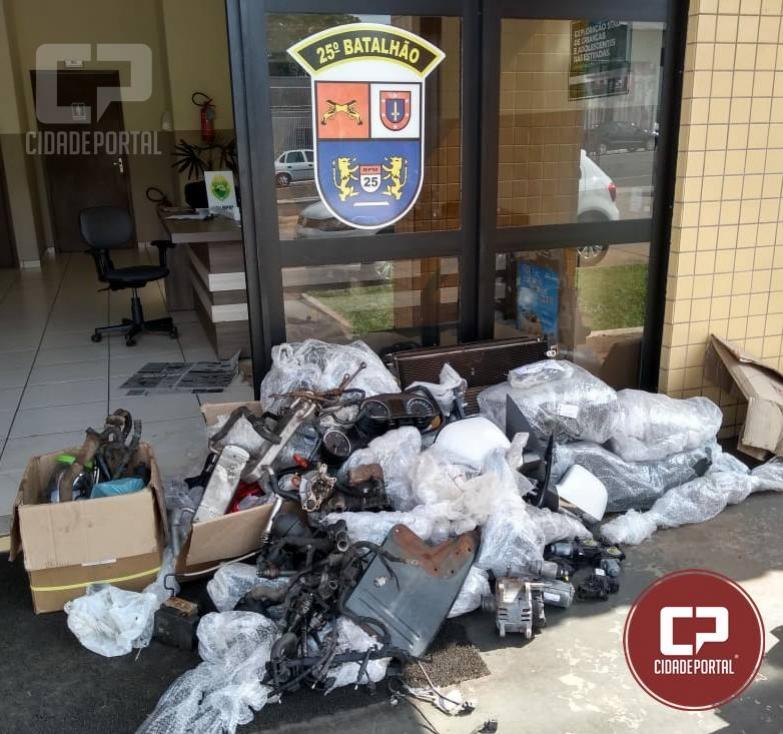 Equipes da Polícia Militar de Umuarama recuperam mais peças de caminhonetes furtadas na região