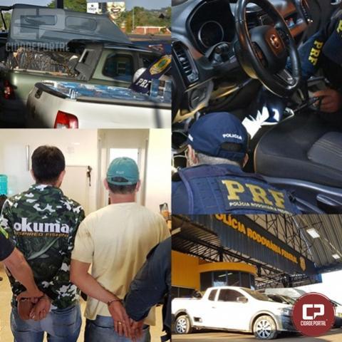 PRF e PF interceptam comboio de contrabandistas de cigarro em Terra Roxa