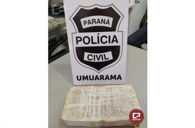 Polícia Civil de Umuarama apreende um quilo de crack e prende traficante em flagrante