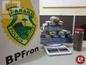 BPFRON apreende maconha em Guaíra