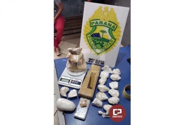 Polícia Militar apreende drogas no Jardim Beira Rio em Umuarama