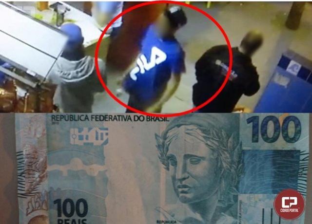PM de Umuarama apreende notas falsas e pede ajuda da população para localizar autor de golpe