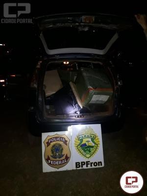 Policiais apreendem veículo carregado com diversos volumes de eletrônicos em Guaíra