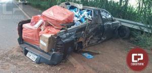 Veículo carregado com cigarros paraguaios sofre acidente na BR - 272