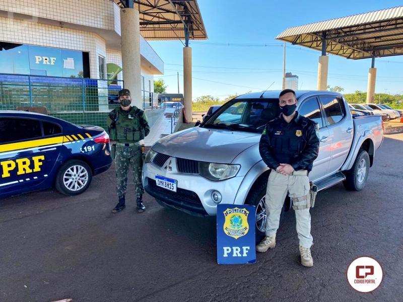 Em ação conjunta, PRF e Exército recuperam veículo roubado em Joinville-SC