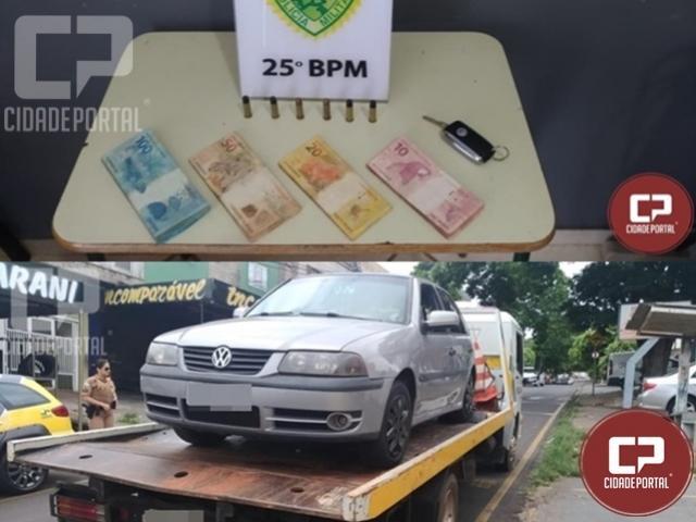 Veículo é recuperado e indivíduo é preso por receptação e posse ilegal de arma em Umuarama
