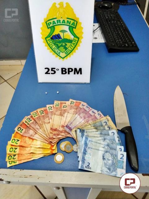 Polícia Militar prende duas pessoas por tráfico de drogas na Praça da Bíblia em Umuarama