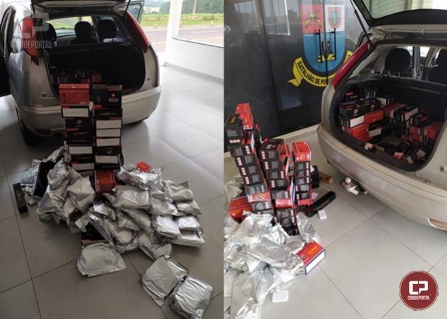 PRE de Iporã apreende mercadorias contrabandeadas do Paraguai