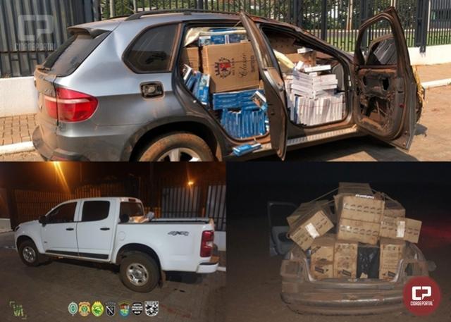 Uma pessoa foi presa e 3 veículos foram apreendidos em Guaíra durante Operação Hórus