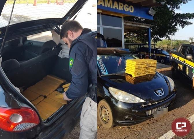 PRF prende homem com maconha escondida em carro no município de Alto Paraíso