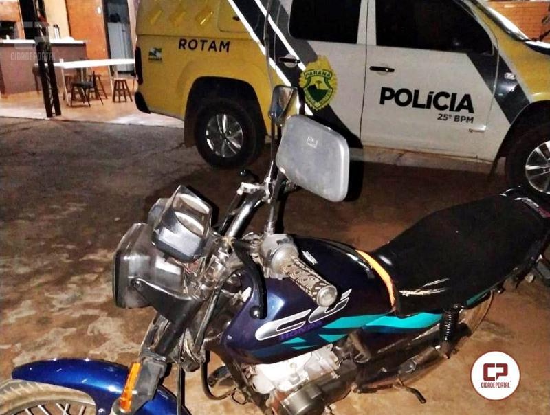 Polícia Militar durante patrulhamento em São Jorge do Patrocínio recupera motocicleta roubada