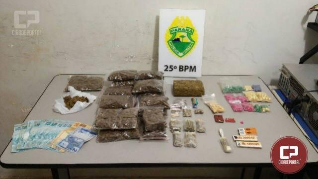 Polícia Militar de Umuarama apreende grande quantidade de entorpecentes