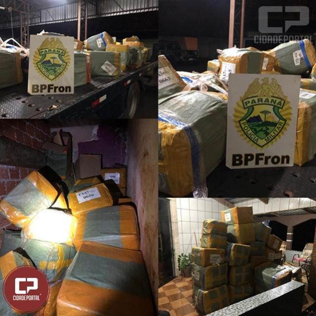 BPFron apreende grande volume de mercadorias contrabandeadas em Guaíra