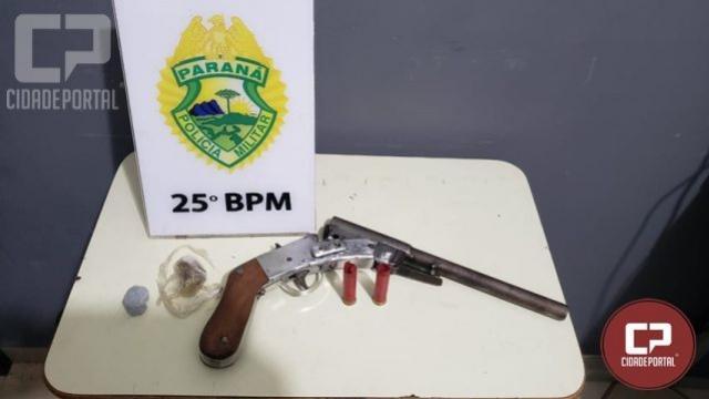 ROTAM prende indivíduo que ameaçava rapaz com arma de fogo em Santa Eliza, distrito de Umuarama