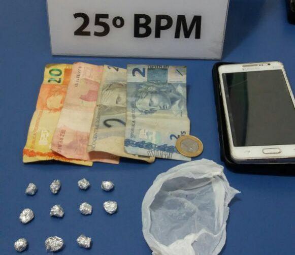 Equipe RPA de Umuarama prende traficante e apreende drogas no sonho meu