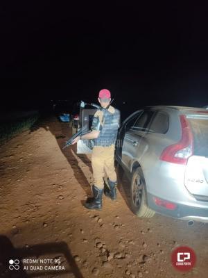 Rotam da 3ª CIA apreende 2 veículos carregados com cigarros contrabandeados em Francisco Alves