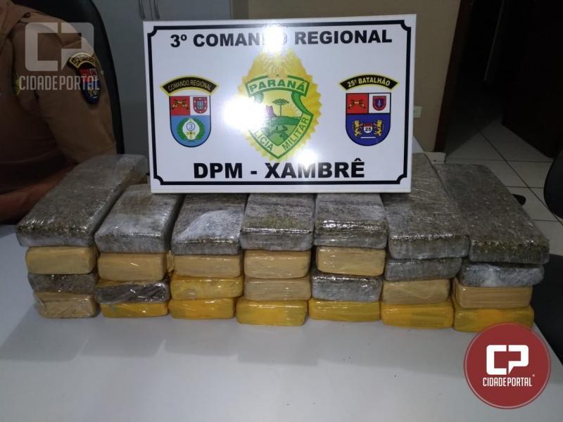 Ação conjunta patrulha distrito de Xambrê e apreende entorpecentes