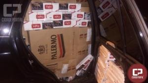 Equipe de RPA e P2 de Umuarama apreendem veículo carregado com cigarros contrabandeados do Paraguai