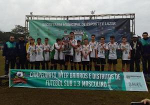 Colégio Bento/Jardim União de Umuarama é o campeão do Interbairros e Distritos de Futebol Sub-13