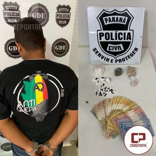 Polícia Civil de Umuarama prende uma pessoa por tráfico de drogas