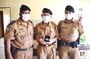 Aos 90 anos policial da reserva foi homenageado pelo 25º Batalhão da Umuarama