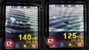Motorista é flagrado à 140km/h durante fiscalização da PRE no trecho entre Alto Piquiri e Perobal