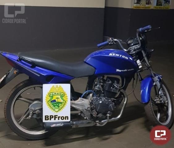 BPFron apreende motocicleta durante patrulhamento em Guaíra