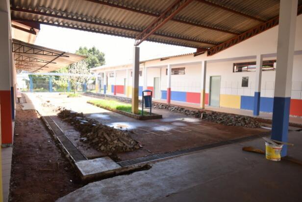 Ampliação da Escola Dr. Ângelo Moreira está em fase de acabamento