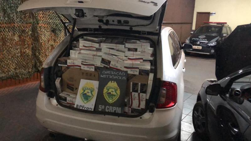 BPFron apreende contrabando em veículos na cidade de Cafezal do Sul