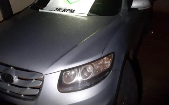 Carro preparado para o contrabando é apreendido pela Polícia Militar de Umuarama